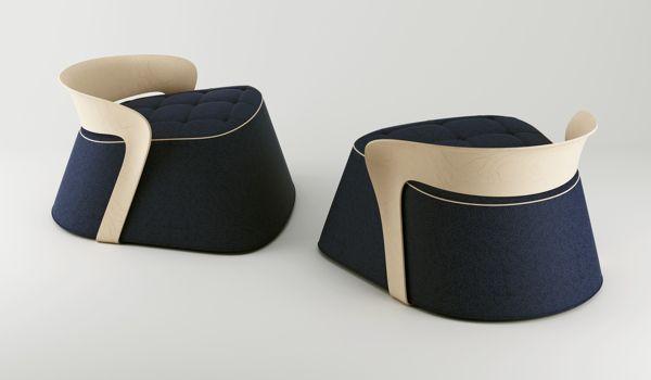 Puff / Chair by Pedro Sousa, via Behance