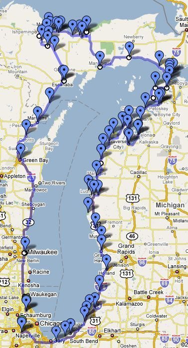 Lake Michigan Circle Tour ( Great Info on this web site for a motorcycle tour…