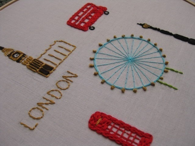 London embroidery pdf pattern by comfortstitching on Etsy. £3.23, via Etsy.