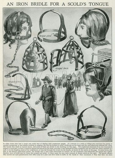 An Iron Bridle for a Scold's Tongue.