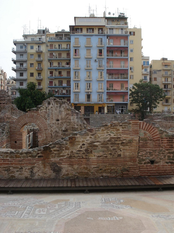 Roman ruins in Thessaloniki, Greece