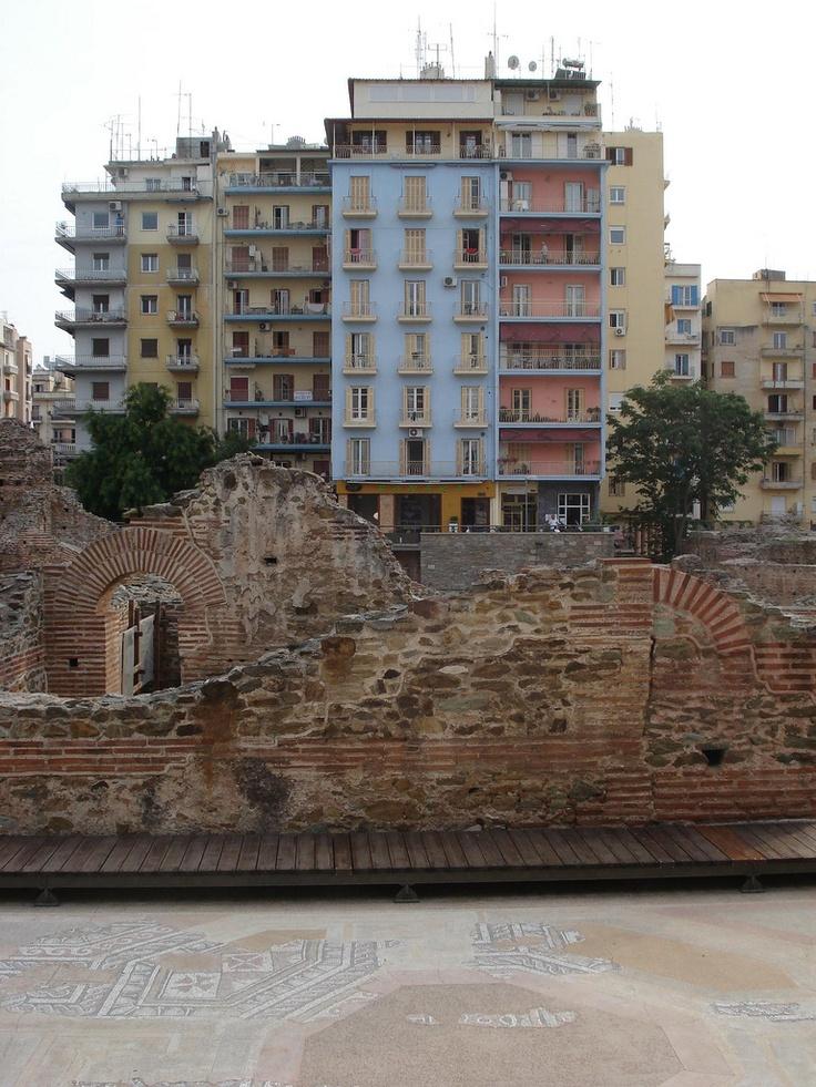 Roman ruins in Thessaloniki, Greece