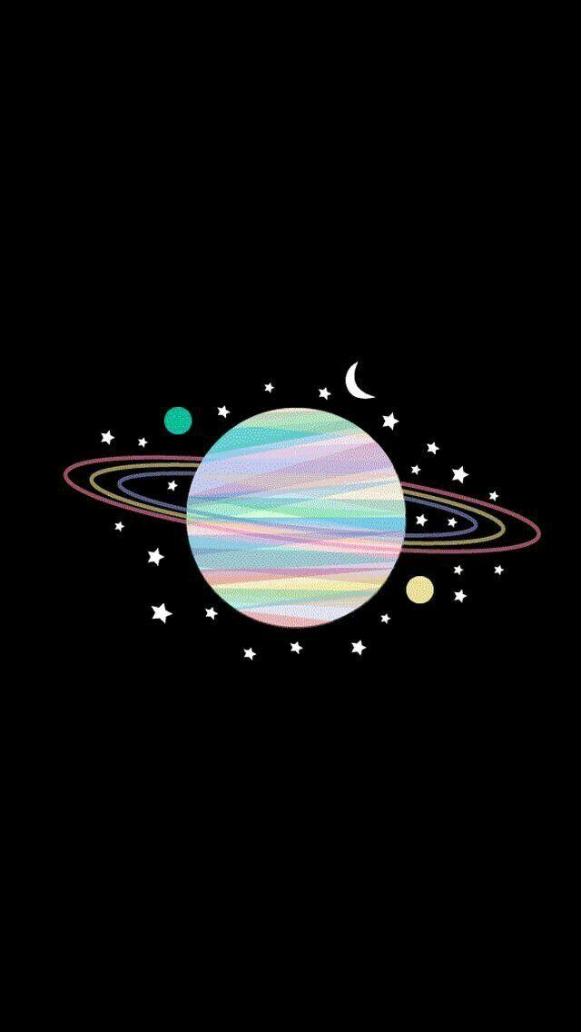 Pin Oleh Destrianufa Di Rainbow Black Galaxy Wallpaper