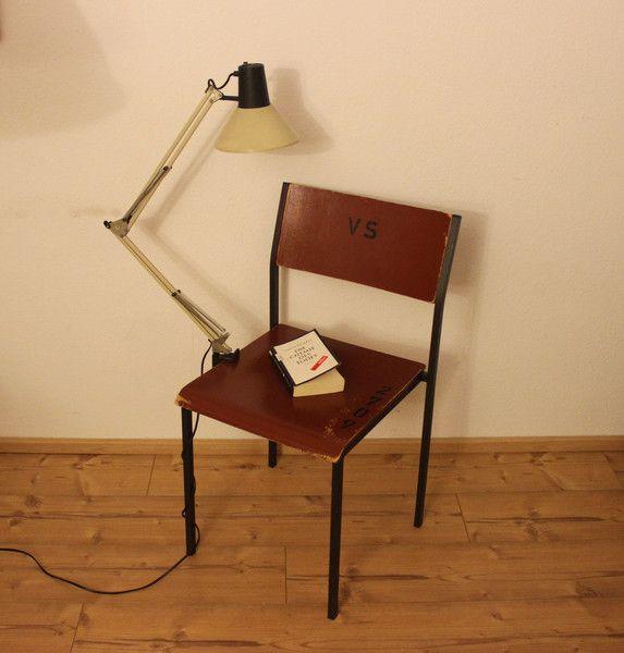 Vintage Tischlampen - Gelenkarmlampe vintage weiß - ein Designerstück von Pfaennle bei DaWanda