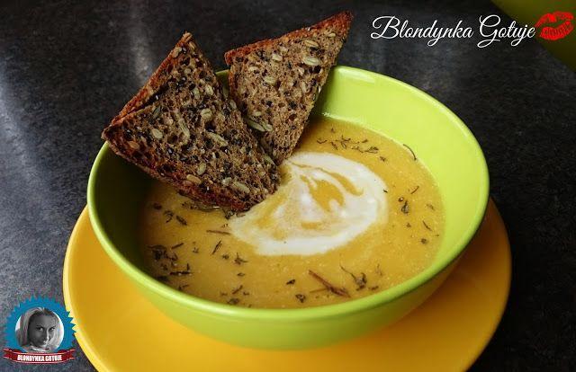 Blondynka Gotuje: Zupa Dyniowa z Mleczkiem Kokosowym