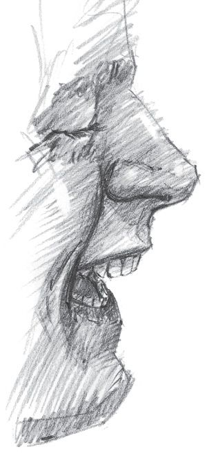 Watch your mouth ~ drawing it, that is. Mini-demo from Paul Leveille at…