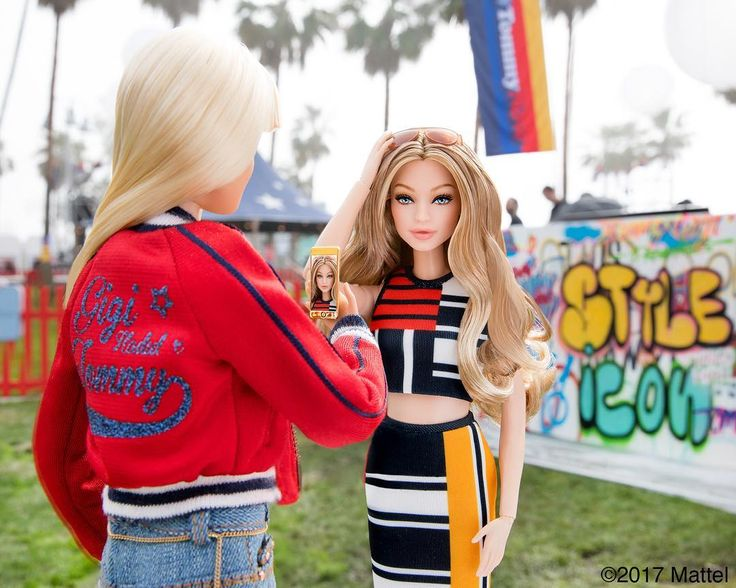 """""""A must-capture moment as @gigihadid gives me the tour of TOMMYLAND! Thank you @TommyHilfiger for inviting me to share in this epic event! """" Barbie Style on Instagram. Gigi Hadid doll most likely a One of a Kind (OOAK). 02/08/2017"""