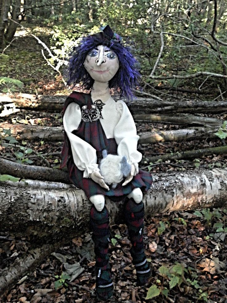 Scottish Cloth Art Doll Ben Wyvis - pinned by pin4etsy.com