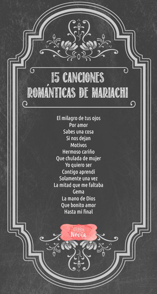 15 Canciones Románticas de Mariachi para la Boda | El Blog de una Novia | #boda #mariachi | Escucha la lista en: http://www.elblogdeunanovia.com/boda/15-canciones-romanticas-de-mariachi-para-la-boda/
