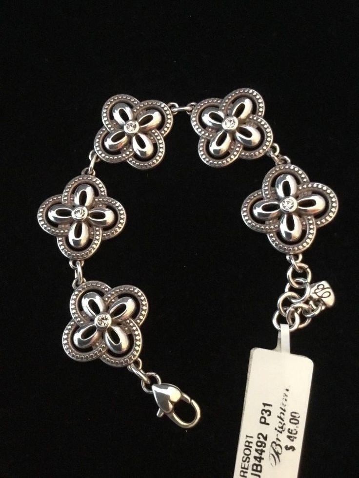 "BRIGHTON Resort Silver Crystal Bracelet 7-8"" NWT #Brighton #Bracelet"