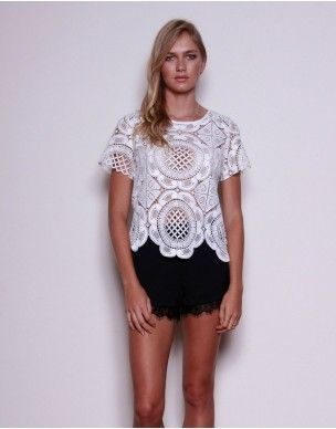 By Your Side White Lace Top Also available in black  www.lemonfrankie.com.au