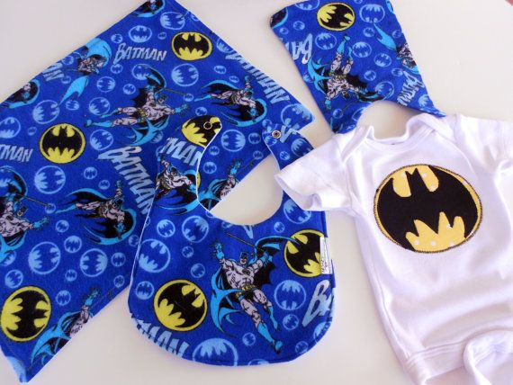 FREE USA SHIPPING Appliqued Batman Onesie by Stitchedbygigi, $39.00