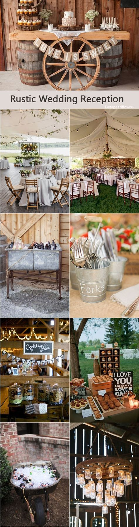 ideas for rustic wedding reception%0A Rustic country wedding reception decor ideas    http   www deerpearlflowers com