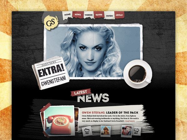 Artist Website - Gwen Stefani [concept] on Behance