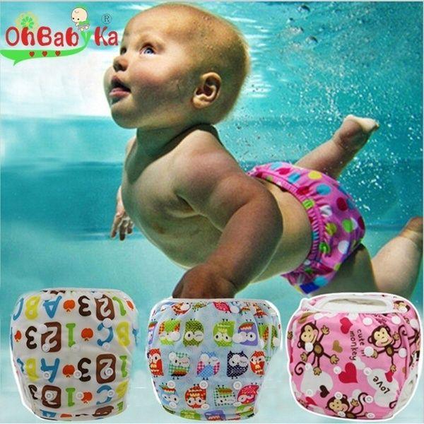Adjustable Reusable Baby Summer Swim Diaper Swim Trunks Waterproof Swimwear USA