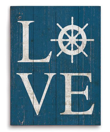 Look at this #zulilyfind! Love Wheel Wall Art #zulilyfinds  Love with an anchor for the V