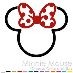 Details about MINNIE MICKEY MOUSE TRIBAL TWO COLOR TATTOO DISNEY VINYL DECAL STICKER (MM-10)