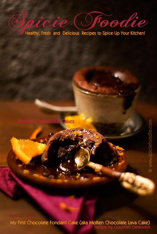 Chocolate Fondant Cake (aka Molten Chocolate Lava Cake) on SpicieFoodie