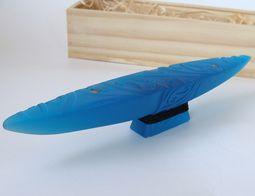 Beautiful glass boats in styalised waka design http://www.newzealandshowcase.com/productdetails.cfm/productid/402