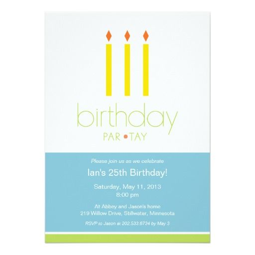 421 best Candle Birthday Invitations images – Candle Party Invitations