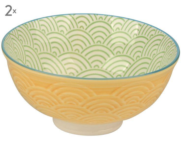 Egal ob Müsli, Joghurt oder Obstsalat - die kleine Schale ZOÉ ist die perfekte Basis. Die gelbe Außenseite und grüne Innenseite machen ZOÉ zu etwas ganz Besonderem. Die Schale verschönert Ihre Tafel im praktischen Zweier-Pack.