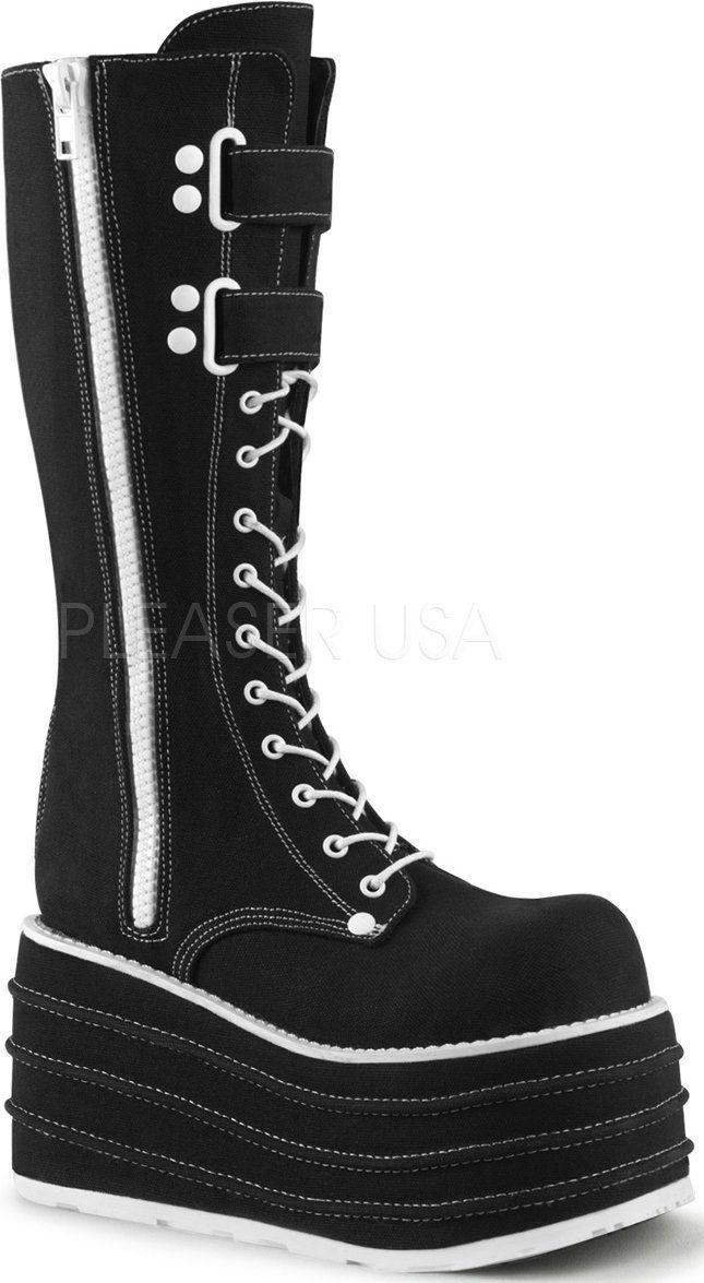 6a3e96034e0 Demonia Shoes - MORI-310 Black Canvas