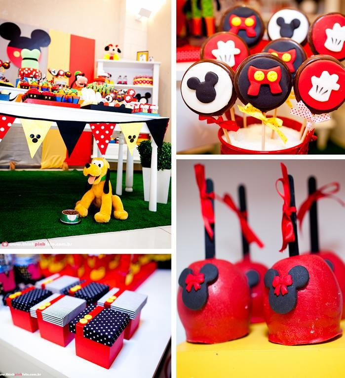 Mickey Mouse Party via Kara's Party Ideas #MinnieMouse #party #planning #idea #decorations #GenderNeutral (1)