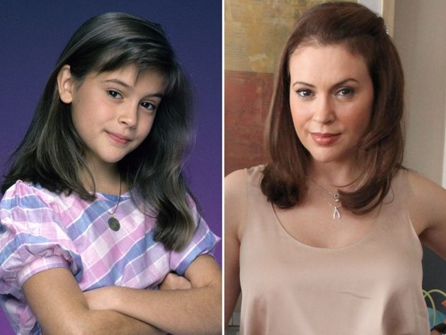 TV Stars Then And Now | ... Alyssa Milano