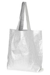 <p>The Babylon Bag has a crinkled, silver-toned metallic finish. It has…