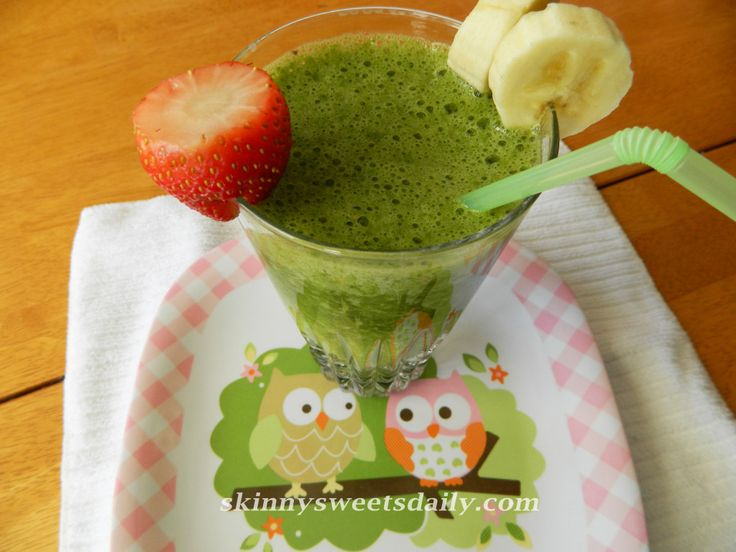 This is my favorite smoothie of all time. Believe it or not I use fresh baby spinach leaves. It practically adds no calories but does add great health benefits. I promise you will NOT taste ...
