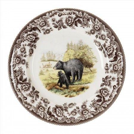 "Spode Woodland Salad Plate 8"" (Black Bear) - Woodland - Collections - Spode USA"