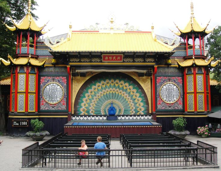 The Pantomime Theatre in the Tivoli Gardens in Copenhagen