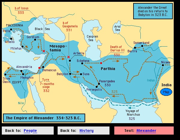The Empire of Alexander the Great 334-323 BC Maps \ Legends - geographic preference