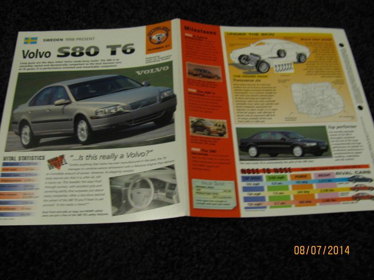 2018 volvo brochure.  2018 awesome great volvo s80 t6  collector brochure specs info 1998 intended 2018 volvo brochure