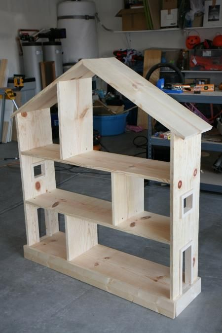Bookcase Dollhouse | Do It Yourself Home Projects from Ana White. would love to do a fir station or something for my son.