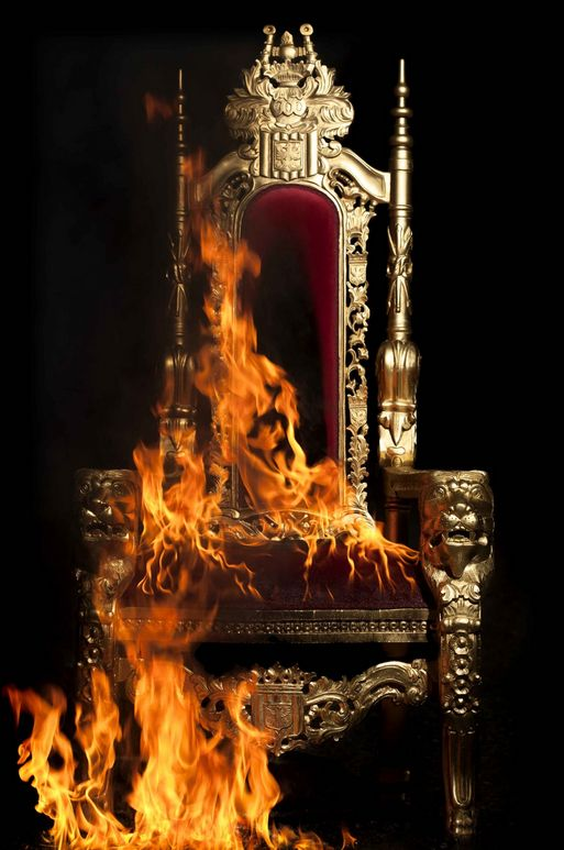 Burning Throne (2012) at Leila Heller Gallery ~  By Gayle Mandle and Julia Mandle.