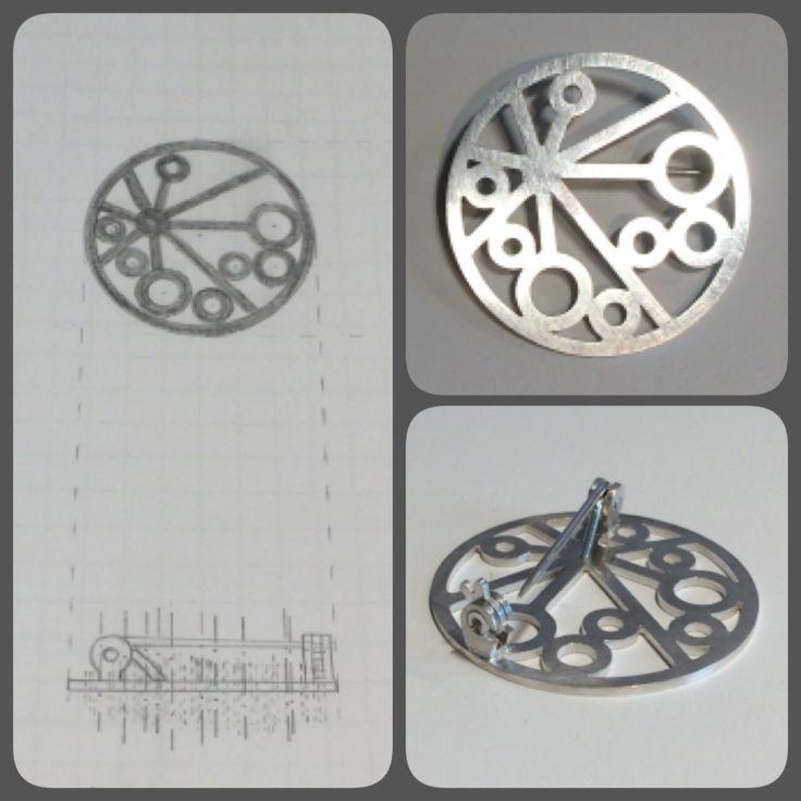 Silver broch, school project