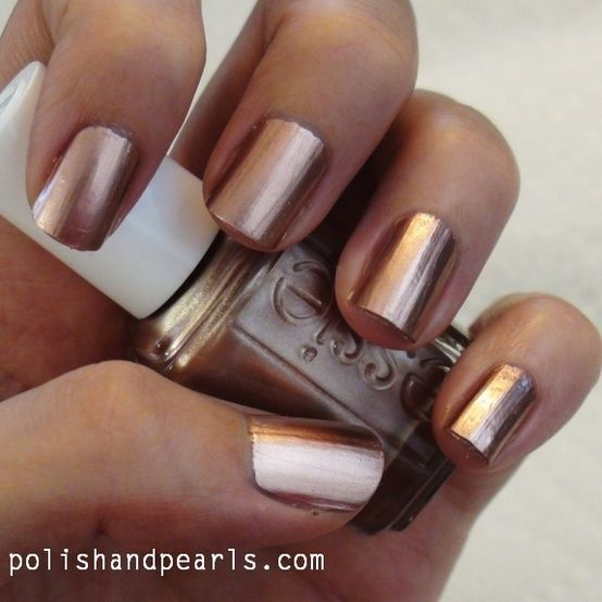 Our assistant manager has rocked this color a time or two... #rosegold #nailpolish