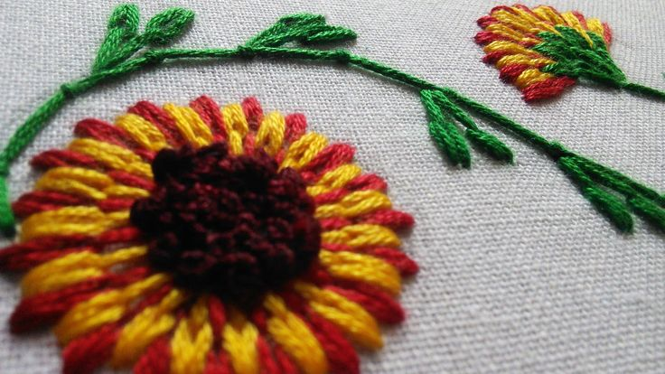 Hand Stitches Tutorial | Long and Short Stitch | Beautiful Flower | Hand...