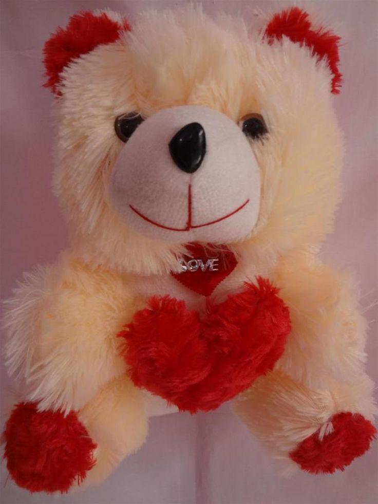 AGS 77 Teddy bear big size kid valentine love Diwali giftcolor cream