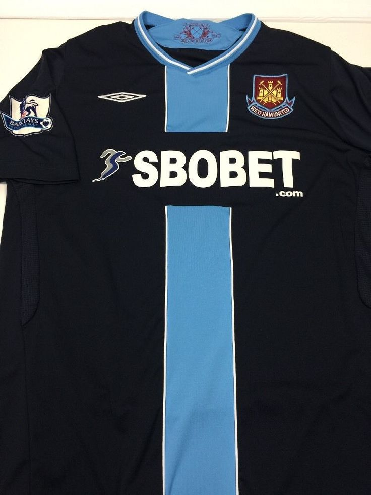 West Ham United FC Jersey Umbro Football Soccer Shirt English  XL 2009  #Umbro #WestHamUnited
