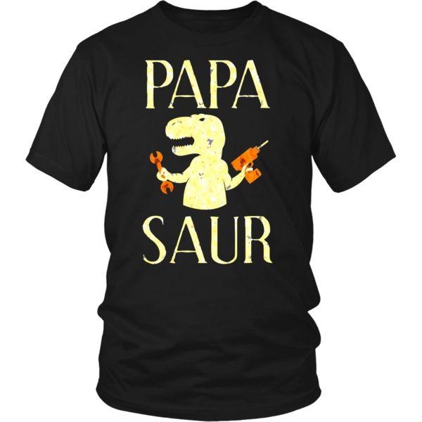 Cute Papa Saur Gift Father Day Daddy Dinosaur T-Shirt