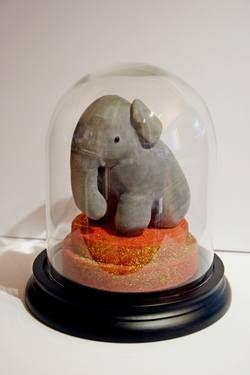 """Saatchi Art Artist JfR Jean-François Réveillard; Sculpture, """"cabinet de curiosite. Animalia - Elephantidae"""" #art"""