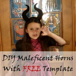 DIY make your own maleficent horns with a free printable template