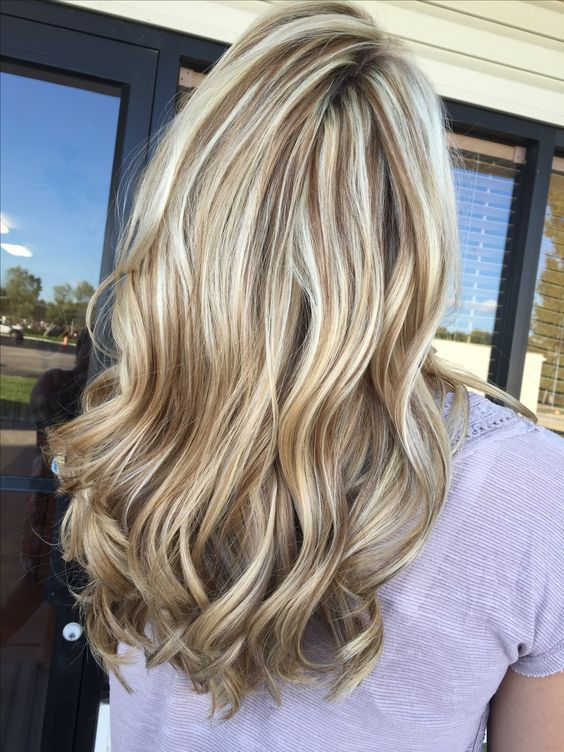 Stunning ice blonde and chocolate brown lowlight brown hair with blonde highligh…