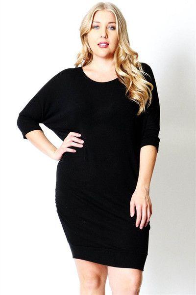 3/4 Sleeve Everyday Plus Maternity Dress