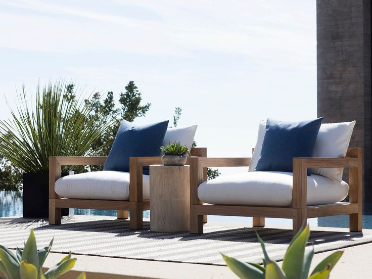 Introducing, the Harbour Pacific Collection. A coastal, modern design, the Harbour Pacific Collection combines thick, removable arms, which creates custom sections of your choice. Robust, solid, and heavy duty, this brand new teak range can mold to any outdoor living space with ease. #HarbourOutdoor #PacificCollection #DawsonandCo #CoastalLiving