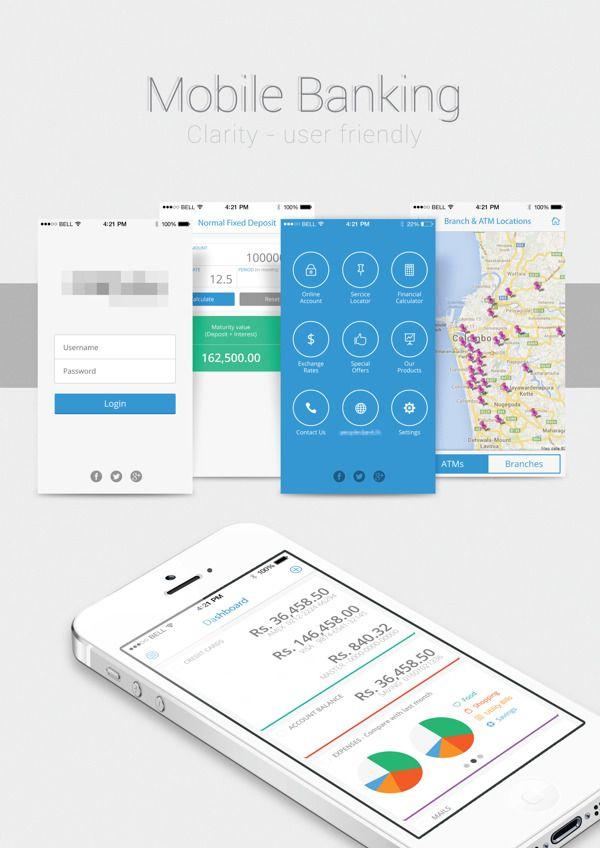 57 best Banking website app images on Pinterest App design - bank application