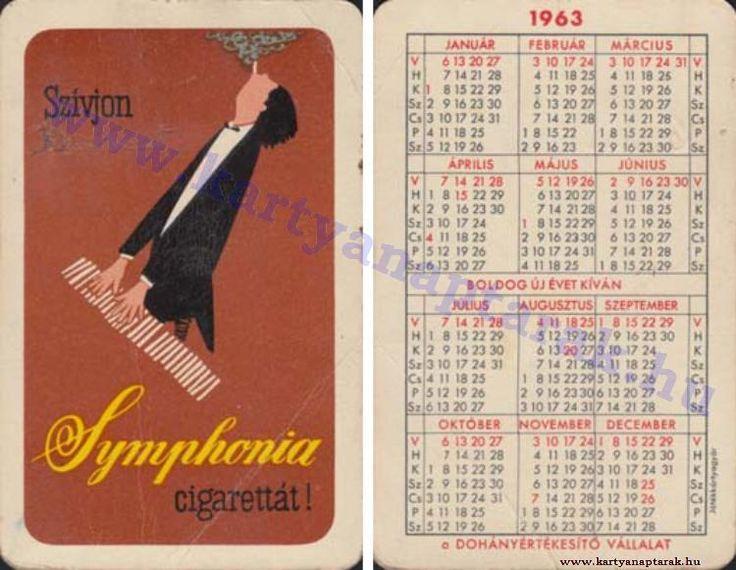 1963 - 1963_0100 - Régi magyar kártyanaptárak