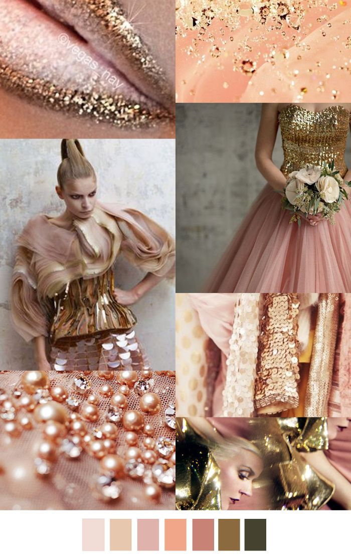 #Trend #2016Fall-Winter #Rosé-Gold with light Peach Nuances sources: pinterest.com, trishahowe.blogspot.com, madamekwan.tumblr.com, happywedd.com, eliesaab.com, luxeandlillies.blogspot.com, cavigliascabinet.tumblr.com